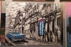 Capulet Art Gallery & Framing Shop - canvas stretches - cuba car 2