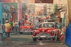 Capulet Art Gallery & Framing Shop - canvas stretches - cuba car red