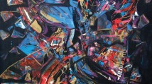 the grandest - abstract piano painting