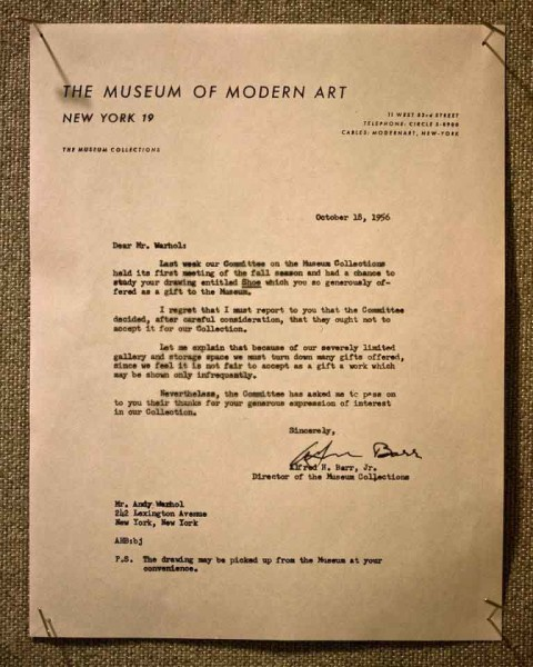 andy warhol letter