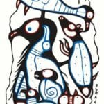Capulet Art Gallery - Norval Morrisseau - No One Stands Alone