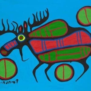 Capulet Art Gallery - Norval Morrisseau - Nocturnal Reflections