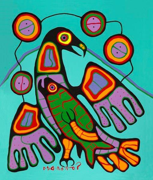 The Great Eagle by Norval Morrisseau, Ojibwe Artist