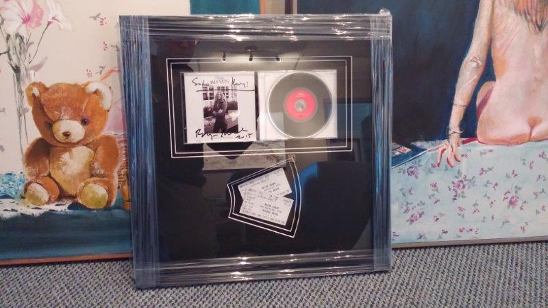Custom CD Frame Created at Capulet Art Gallery and Framing Shop
