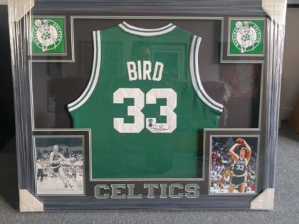 Larry Bird Jersey Frame