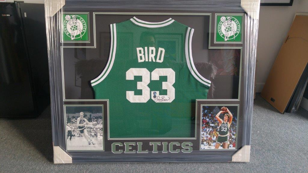 Capulet Art Gallery & Framing Shop - Custom Jersey Frames - Larry Bird