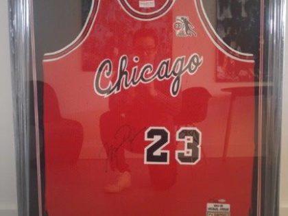 Michael Jordan Rookie Jersey Frame