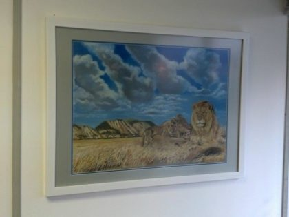 Lion Art Frame