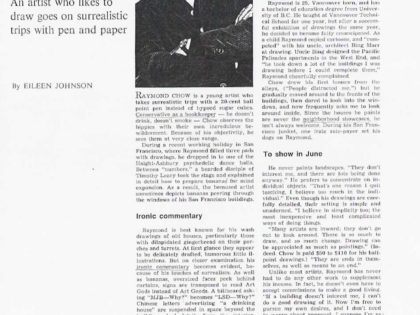 Ball Point Pen – 1966 Vancouver Life Article